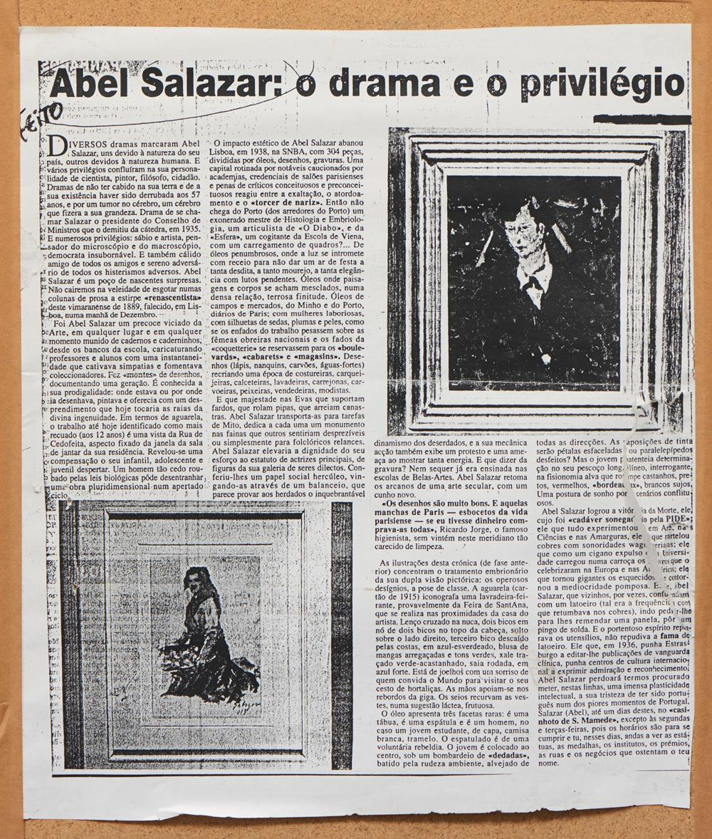 ABEL SALAZAR, mista sobre papel, 27 x 18,5 cm.