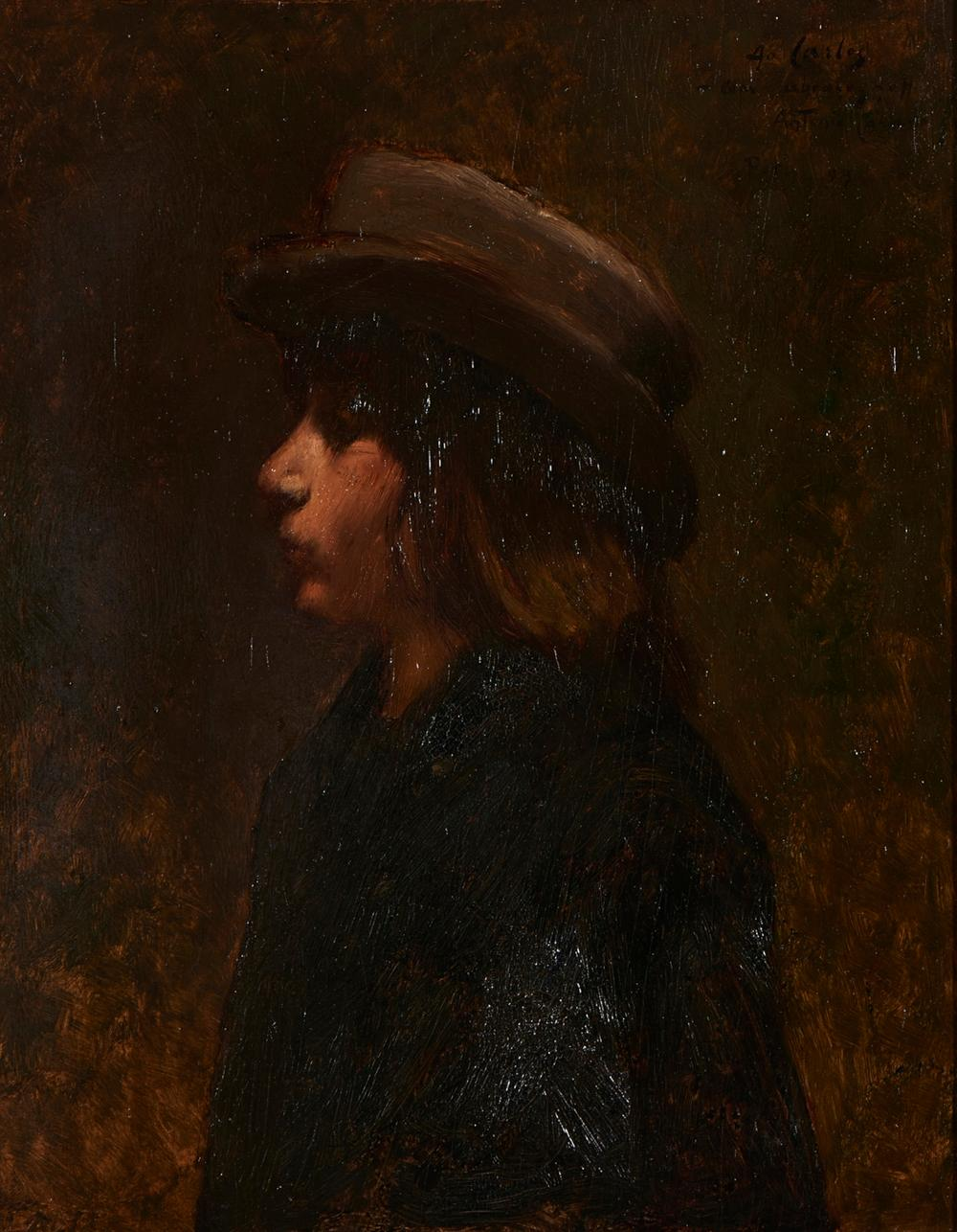 ANTÓNIO CARNEIRO, Óleo s/cartão, 41 x 33 cm.