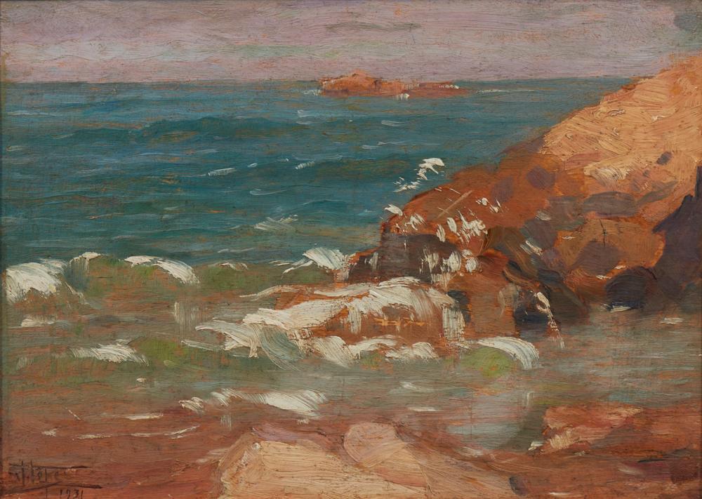 JOAQUIM LOPES, Óleo s/cartão, 23 x 33 cm.