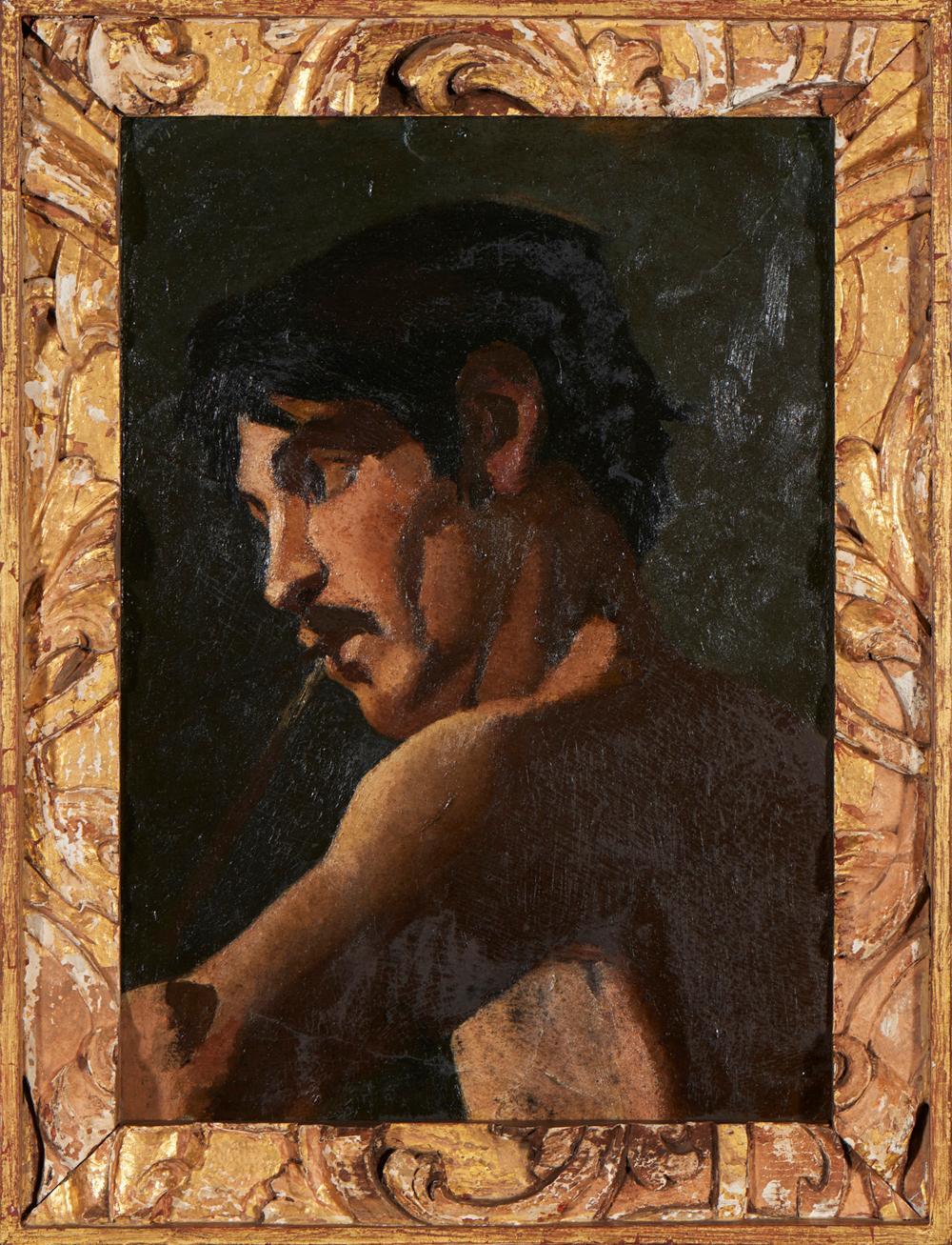 Autor não identifica, Óleo s/madeira, 47 x 33 cm.