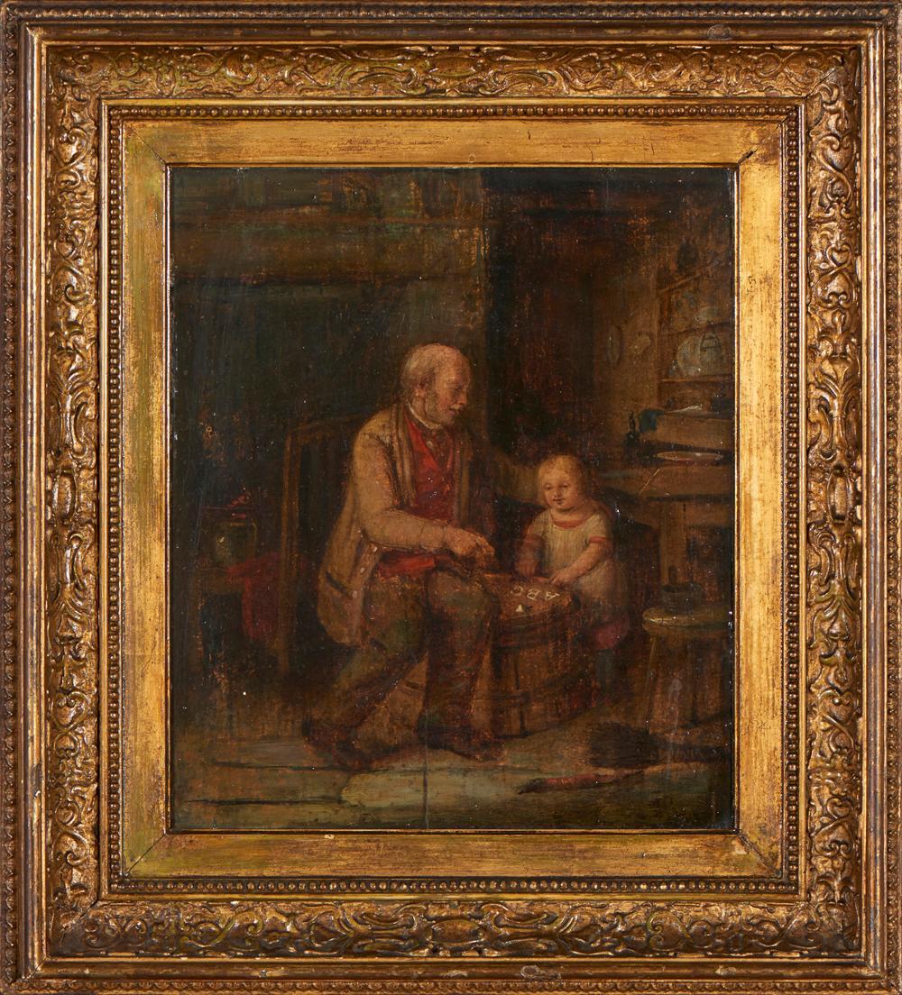 Autor não identificado, Óleo s/madeira, 31 x 27 cm