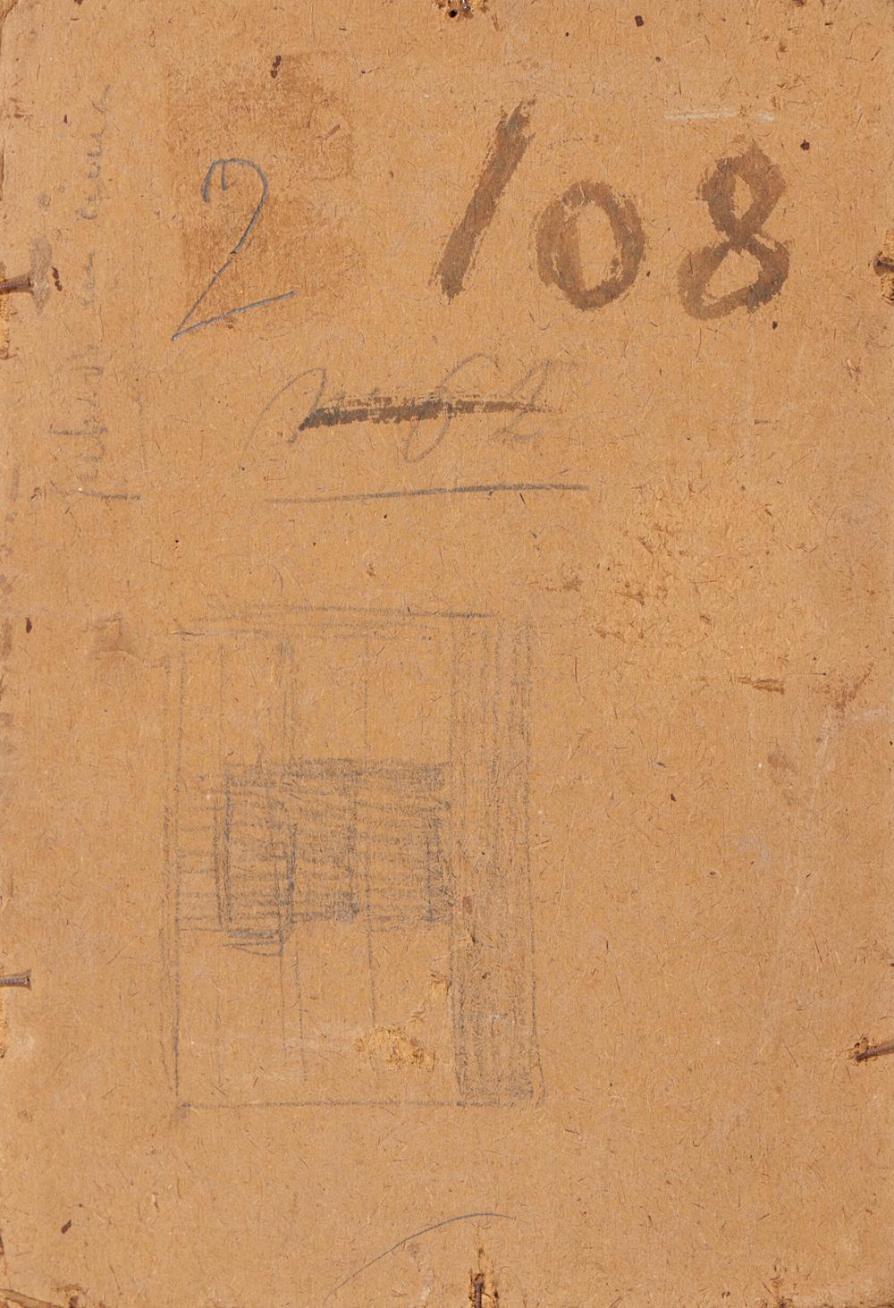 Autor não ident., Óleo s/tela,s/cartão,28x20 cm.