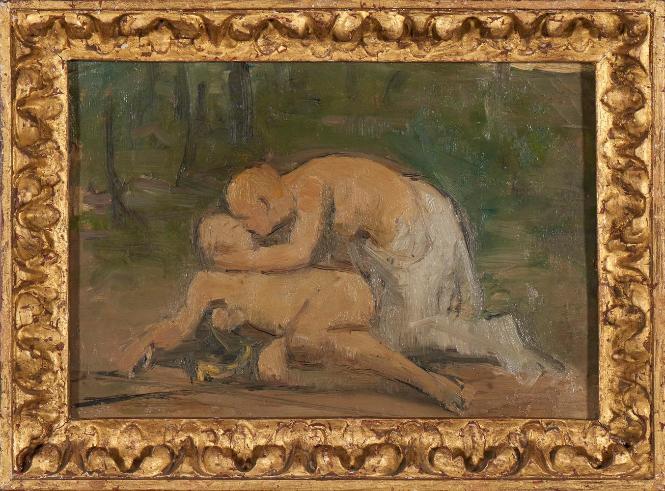 Autor n. identif., Óleo s/ tela, 23,5 x 32,5 cm