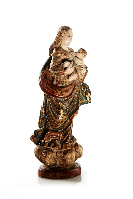 Nª Srª do Leite, Esc. do séc. XVIII, madeira