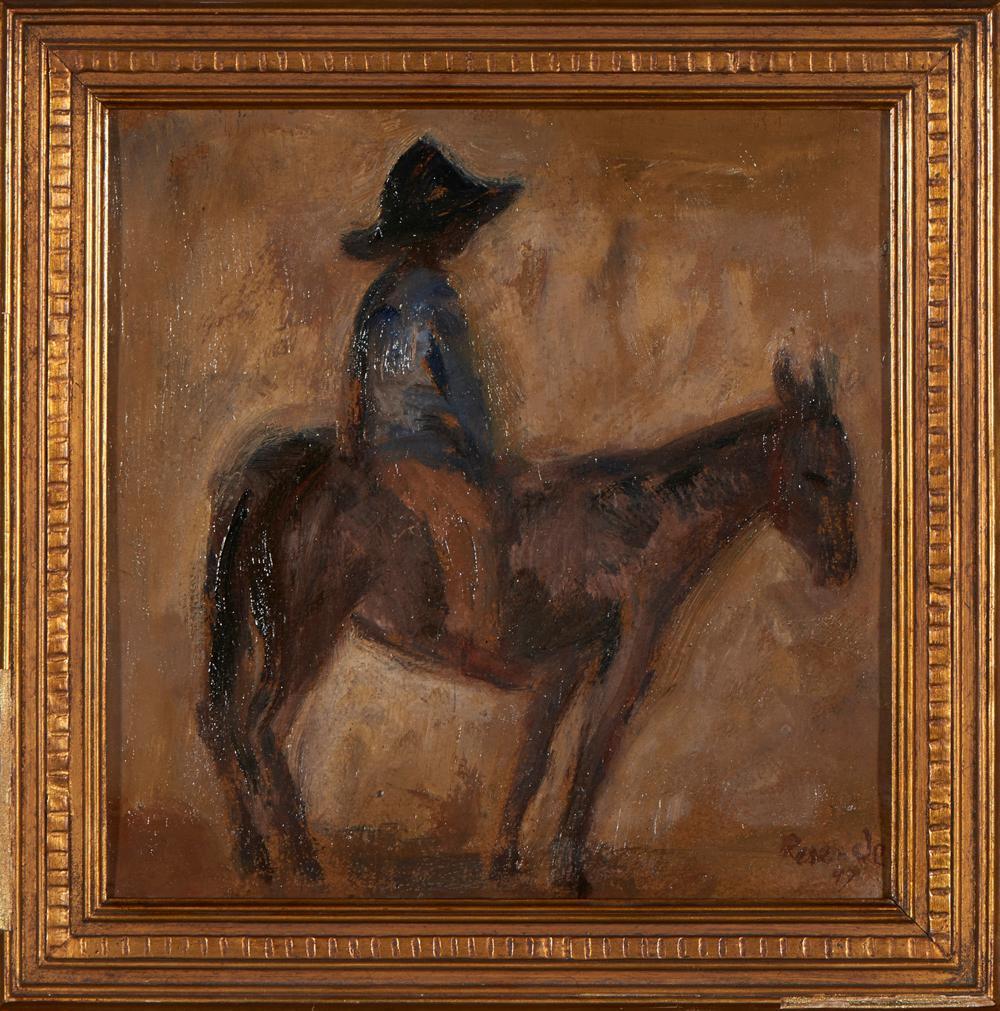 JÚLIO RESENDE, Óleo s/cartão, 31 x 31 cm.