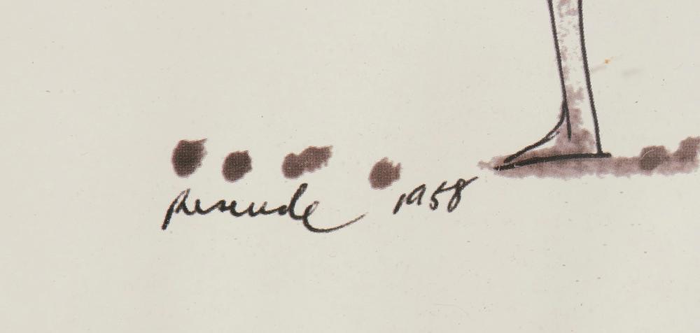 JÚLIO RESENDE, mista s/papel, 20 x 29 cm.