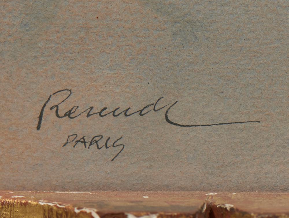 JÚLIO RESENDE, aguarela s/papel, 31 x 48 cm.