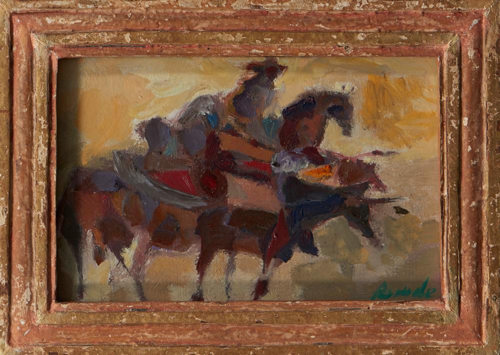 JÚLIO RESENDE, Óleo sobre platex, 16 x 24 cm.