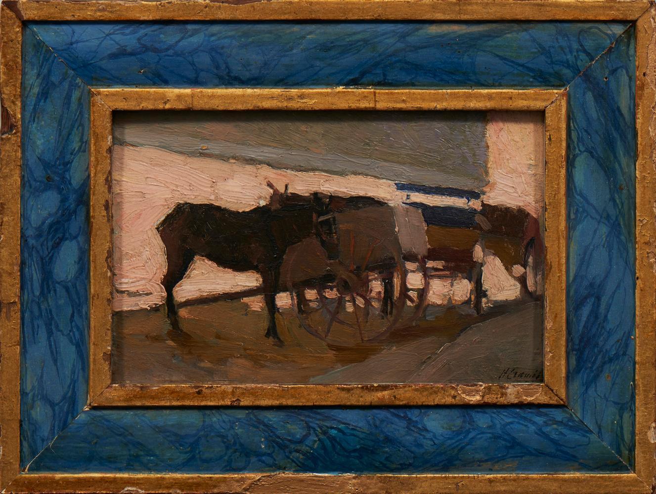 CRAMEZ, Heitor, Óleo sobre cartão, 16 x 24 cm.