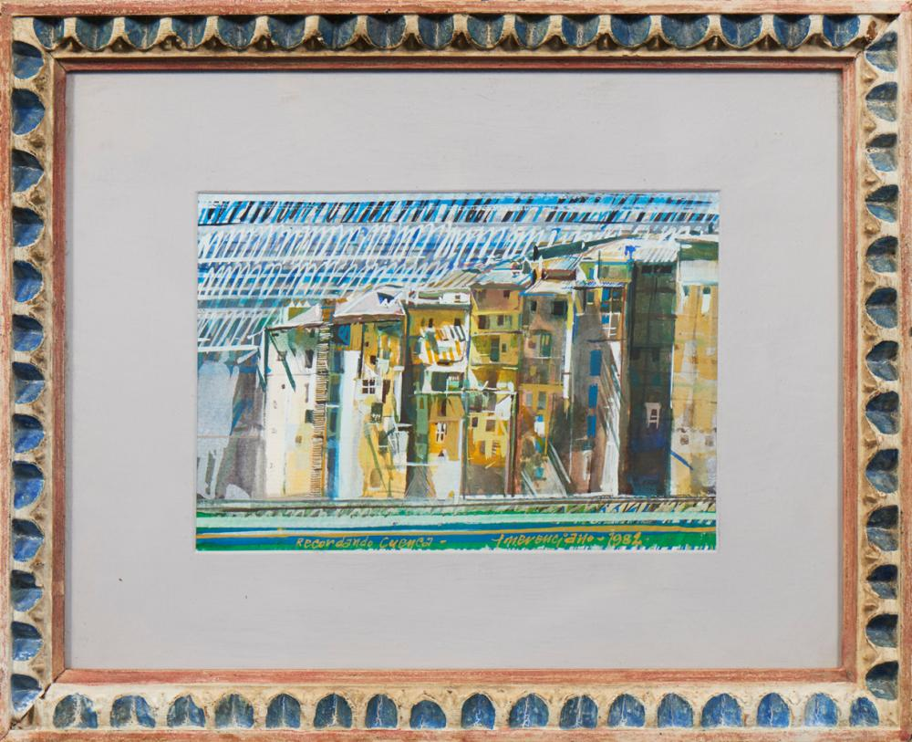 EMERENCIANO, Guache sobre papel, 16 x 24 cm.