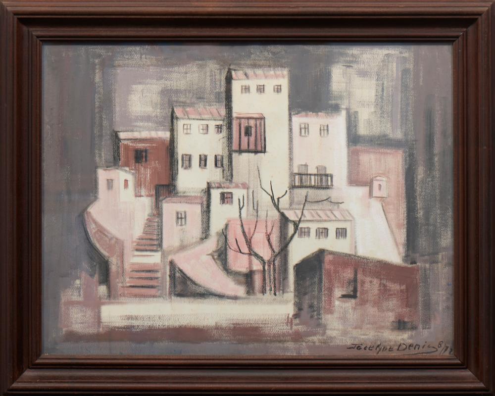 JOCELYNE DENIS, Óleo sobre papel, 48 x 64 cm.*