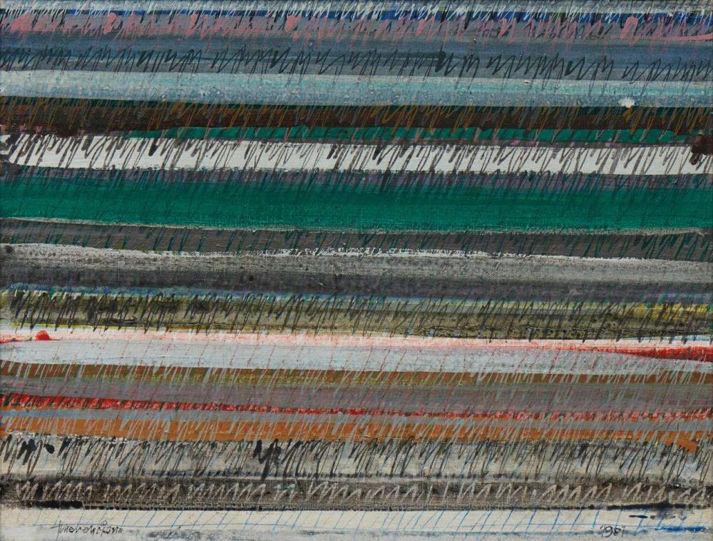 EMERENCIANO, Óleo sobre tela, 1981, 50 x 65 cm.