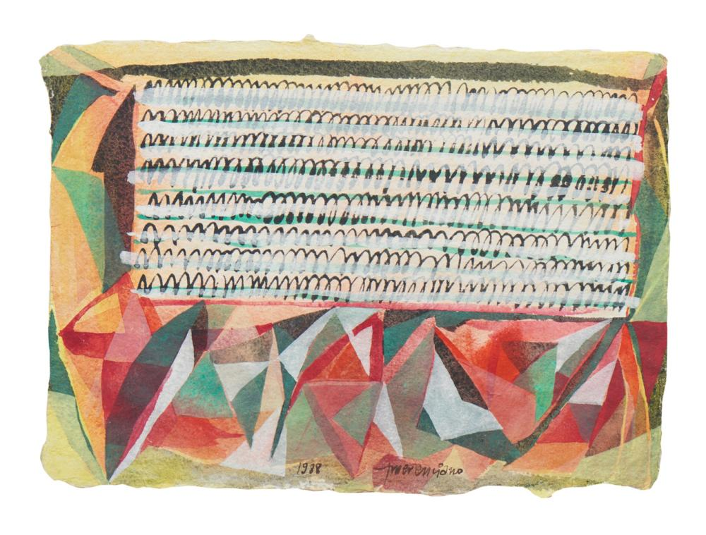 EMERENCIANO, mista sobre papel, 1988, 25 x 34 cm.