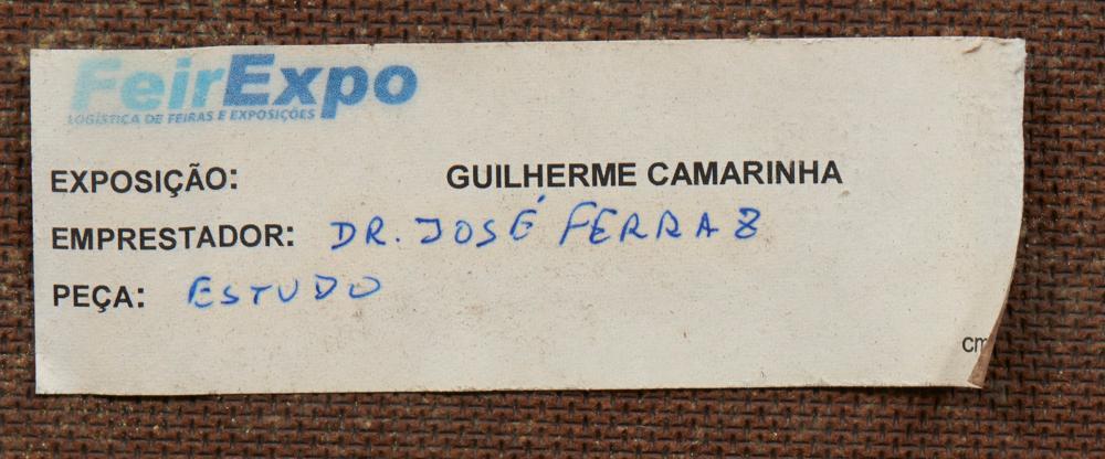 CAMARINHA, Guilherme, Óleo s/platex 39 x 46 cm.