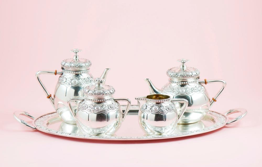 Serviço de chá e café em prata 833%, P. 3798g (5)