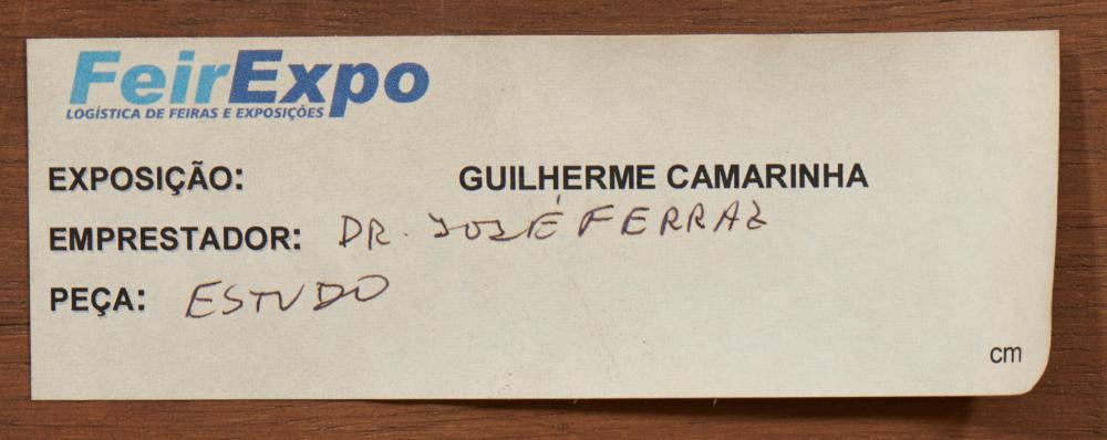 CAMARINHA, Óleo s/contraplacado 33,5 x 39,5 cm.