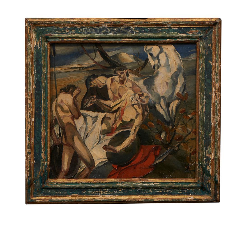 CAMARINHA, Óleo s/contraplacado 36 x 40 cm.