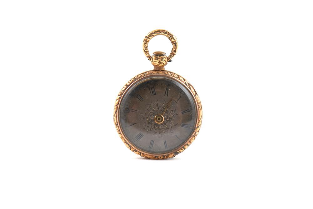 2 relógios de peito do séc. XIX, prata e outros