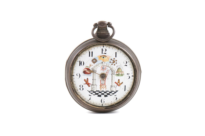 Relógio de bolso inglês, maçónico, em prata
