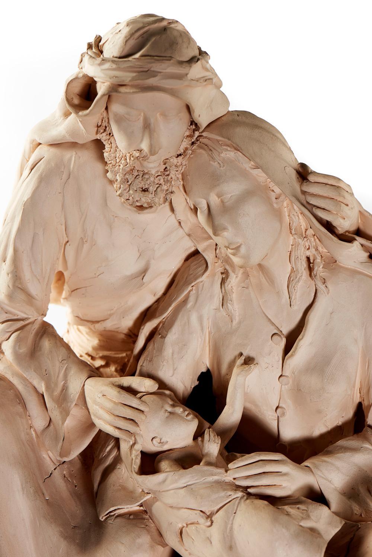 Sagrada Família, escultura barro de monocozedura