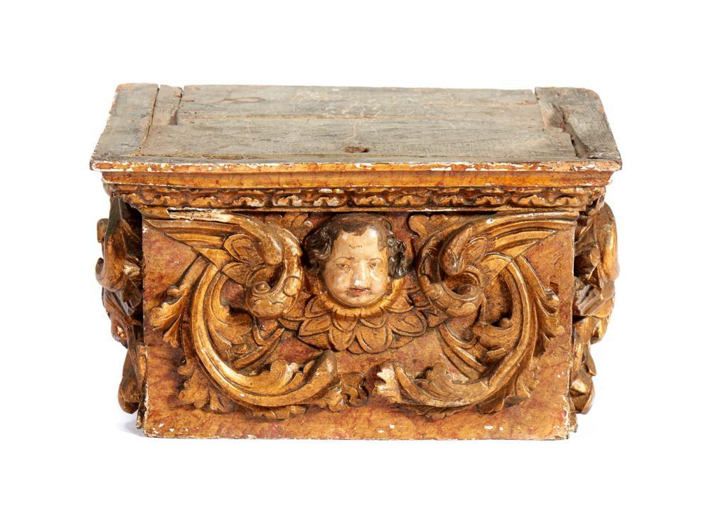 Peanha do séc. XVIII, em madeira entalhada