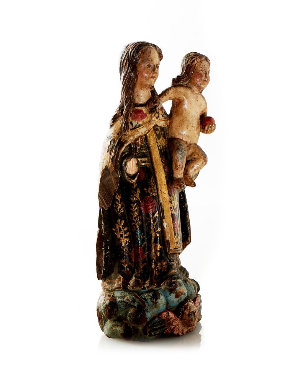 Nª Srª do Carmo c/Menino Jesus, Esc. XVII, madeira