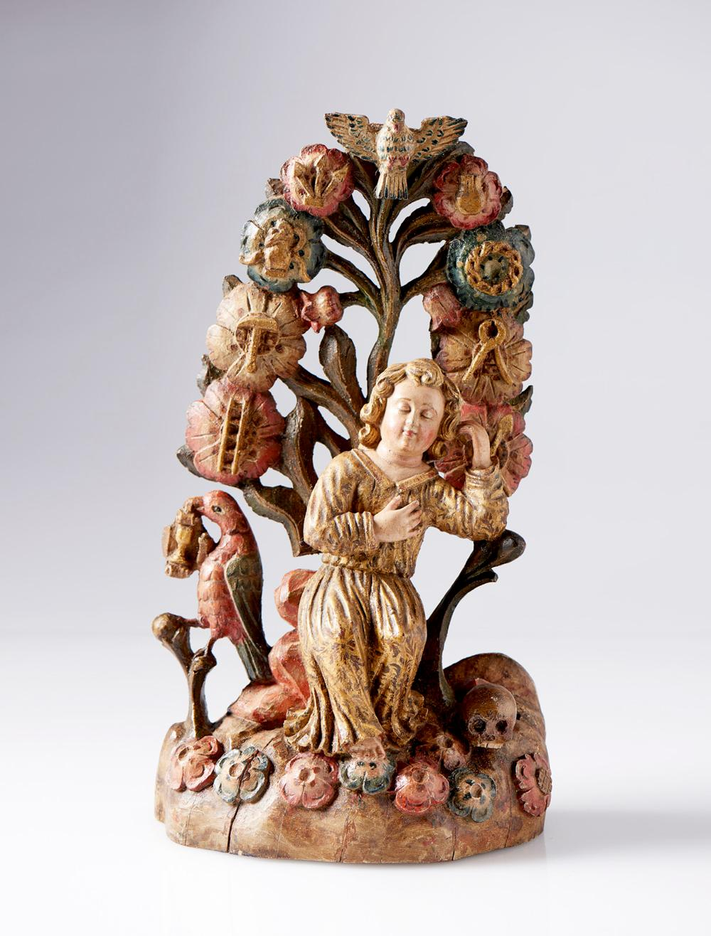 Menino Jesus da Paixão, Esc. séc. XVII, em madeira