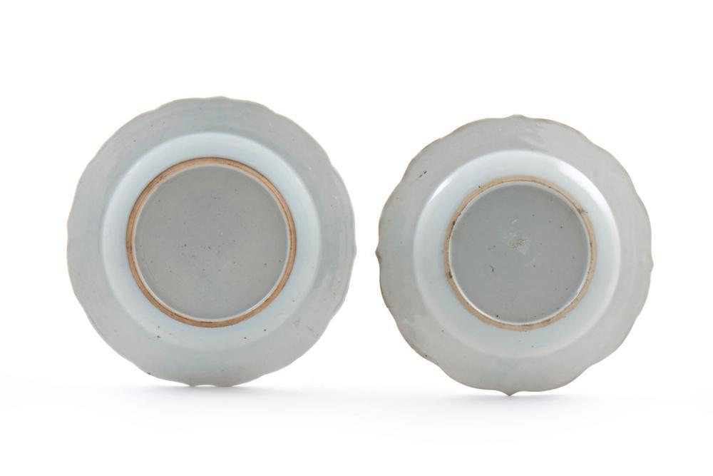 Dois pratos de doce porcelana chinesa CI (2)