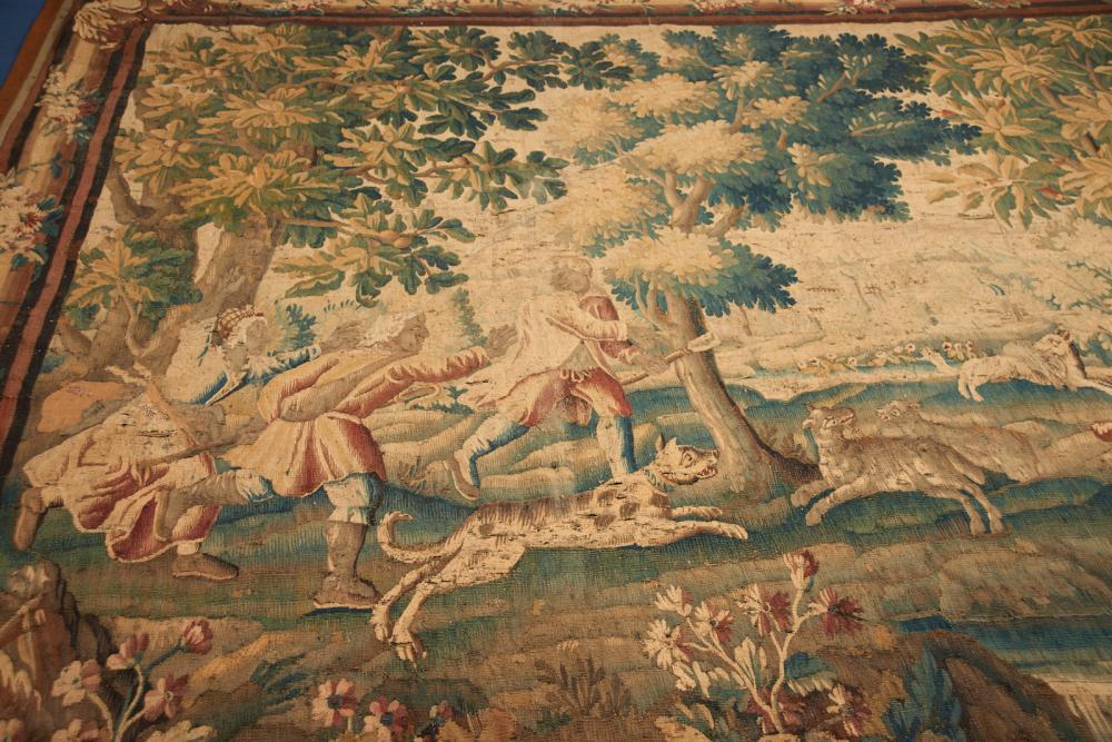 Tapeçaria do séc. XVII, 283 x 353 cm.