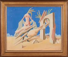 MONIZ PEREIRA, Óleo s/ tela, 65 x 81 cm.