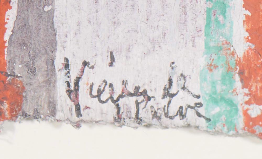 VIEIRA DA SILVA, Têmpera sobre papel