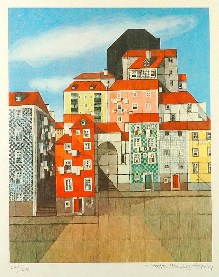 Tom, casas, serigrafia sobre papel, edição 274/280