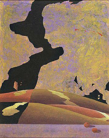 Alfredo Luz, 'Pelos campos IV', óleo s/tela, 49x39