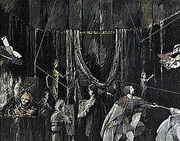 MÁRIO BISMARCK, 'A Aula da Academia VII', óleo