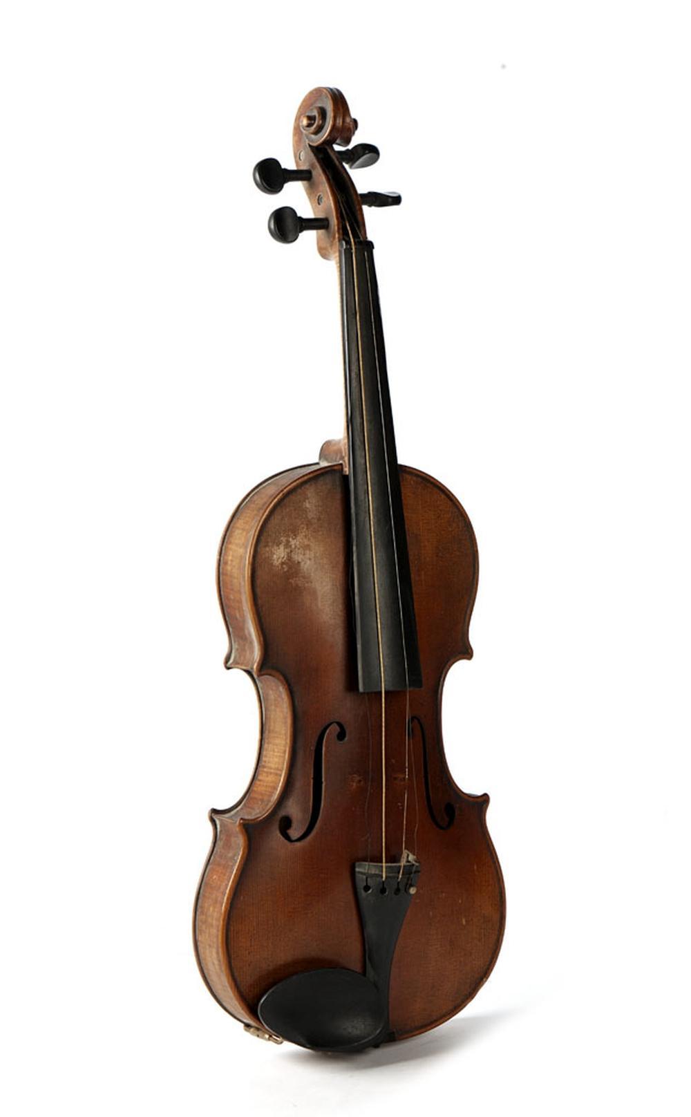 Violino em madeira e outros materiais