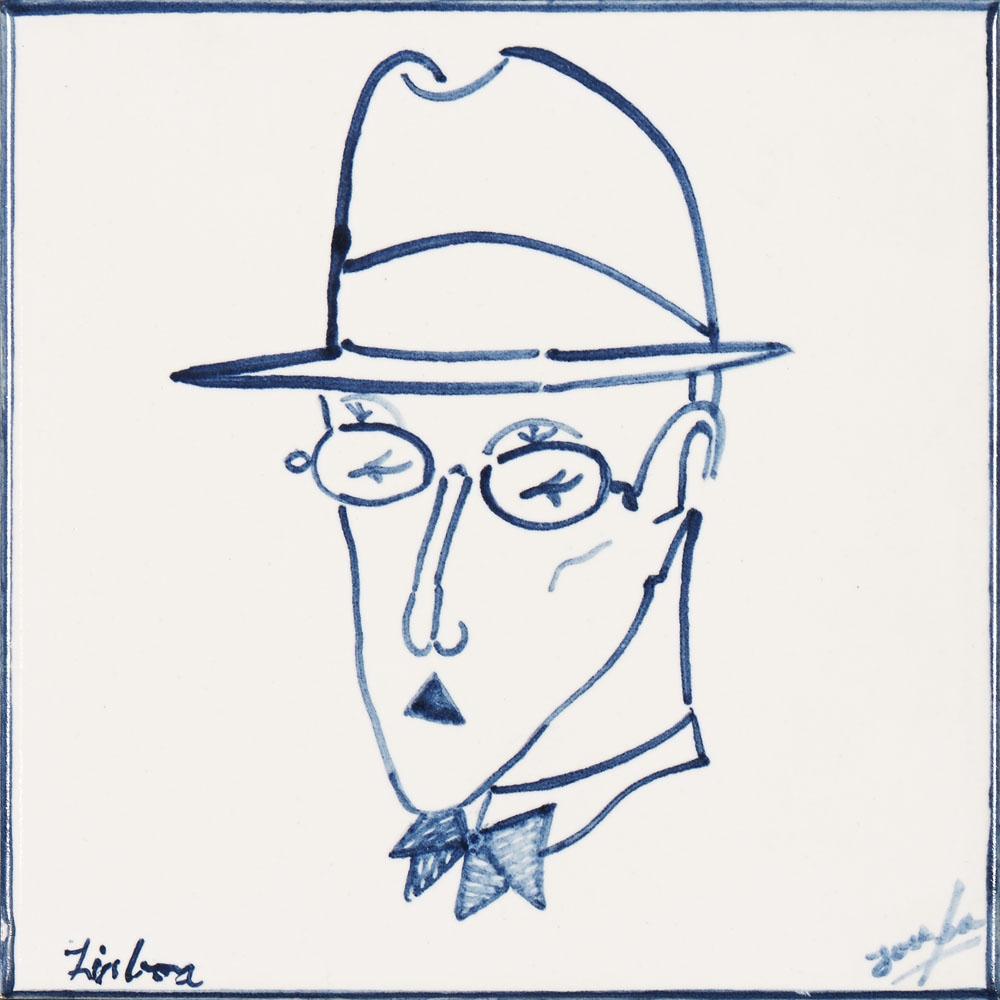 Fernando Pessoa, Azulejo, 15 x 15 cm.