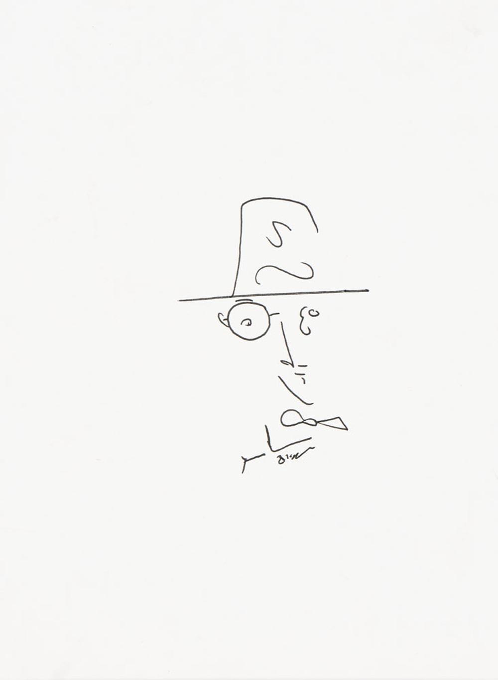 Fernando Pessoa, Tinta-da-China s/ papel, 28,5x21
