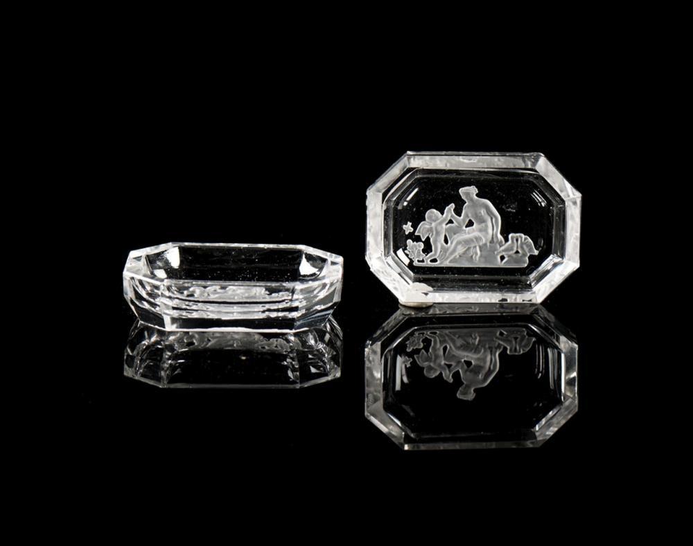 Dois pequenos saleiros em cristal (2)
