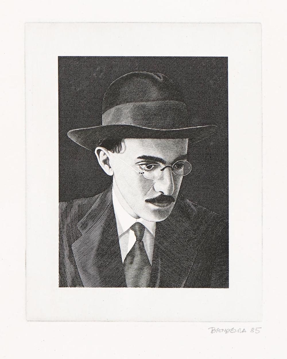BANDEIRA, Gravura s/ papel, 19,5 x 15,5 cm