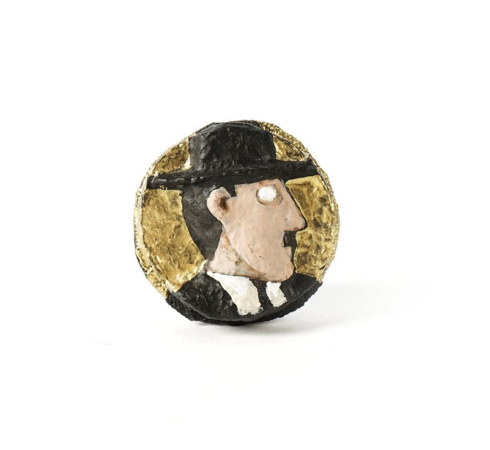 RINOCERONTE, Alfinete, Fernando Pessoa, 6 cm.