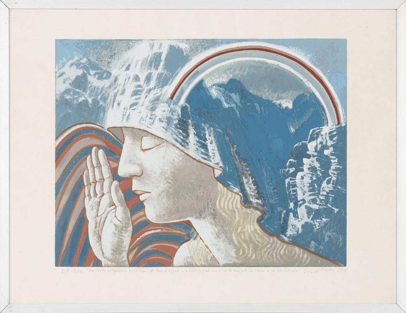LIMA DE FREITAS, Litografia s/ papel, 36 x 46 cm.
