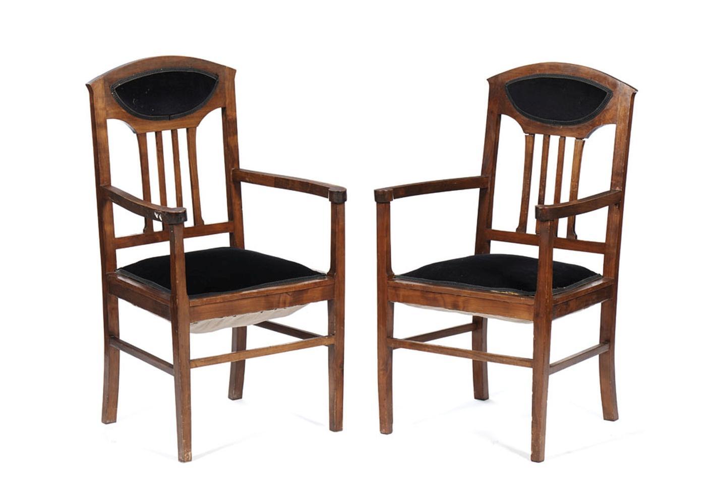 Conjunto de oito cadeiras modelo Art Deco