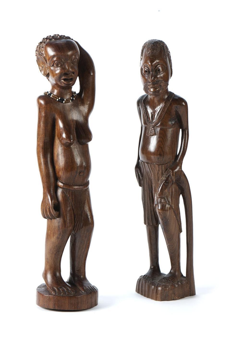 Figura masculina e feminina, esculturas africanas