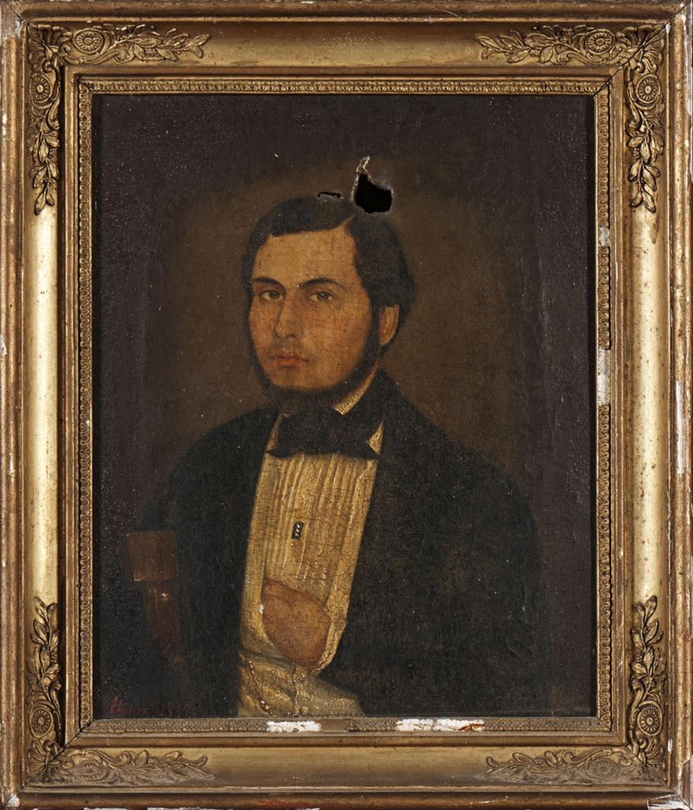 Autor ñ identificado, Óleo s/ tela, 30 x 24,5 cm.