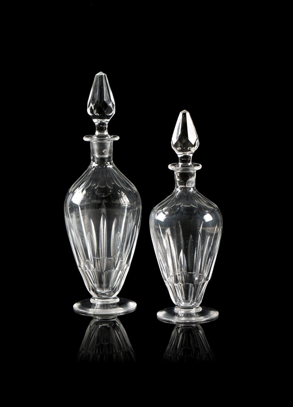 Lote de 2 garrafas de cristal (2)