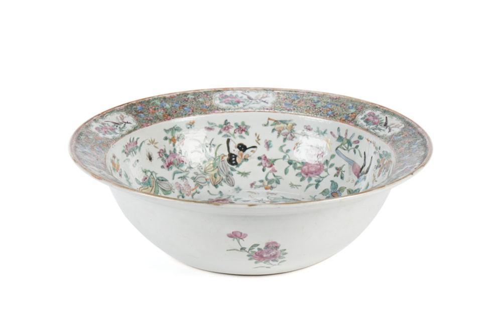 Grande bacia em porcelana chinesa, Mandarim