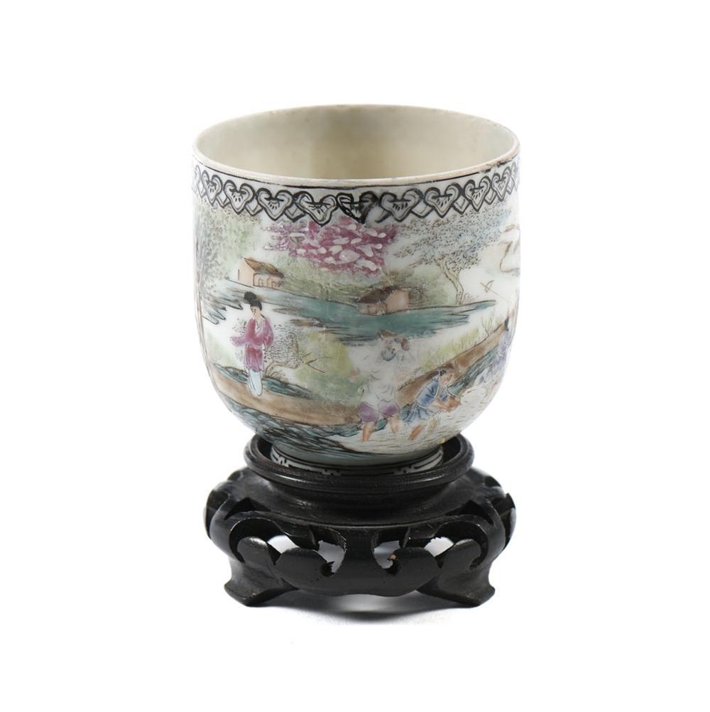 Pequena taça em porcelana chinesa