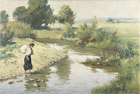 EZEQUIEL PEREIRA (1868-1943); Dim. aprox.: 50 x 74