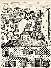 VESPEIRA, Desenho a tinta-da-China, 24 x 18 cm.