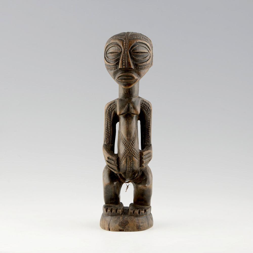 Fig. feminina, Esc. africana, Congo, em madeira